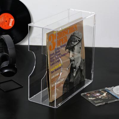 黑膠唱片收納架LP收納合閃電客 桌面CD收納架12寸老唱片存放收藏箱