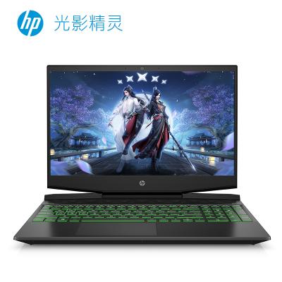惠普(hp) 光影精靈6代 15.6英寸第10代英特爾酷睿i5發燒游戲本筆記本電腦(i5-10300H 16G 512GSSD GTX1650Ti 高色域 綠光)