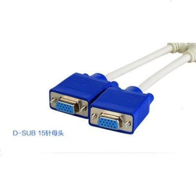 連接 視頻轉換器電腦一拖二VGA線手機電視接口一分二分線器轉接頭定制