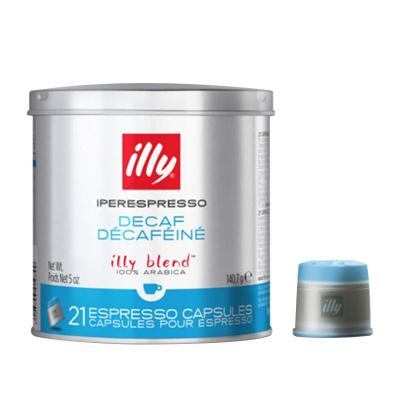 【低因更健康】意利(illy)低因咖啡胶囊 21粒/罐 胶囊咖啡 原味咖啡 黑咖啡 进口咖啡粉 进口咖啡 意大利进口