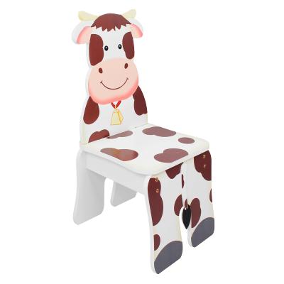 TEAMSON 紛朵奇主題兒童房幼兒園創意農莊奶牛木質靠背椅子