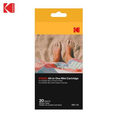 柯達(Kodak)MiniSHOT拍立得相紙 適用C210系列打印機 色帶相紙一體化3.4英寸相紙 20張(不帶背膠)