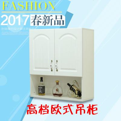 顧致三層歐式烤漆吊柜多層實木板多色多款壁掛儲物柜壁柜可定制
