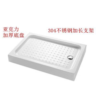 長方形簡易淋浴房底座浴室加厚亞克力底盆隔水 1000*800*150MM