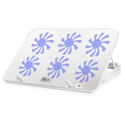 酷睿冰尊筆記本散熱墊14-17.6寸筆記本手提電腦降溫底座冷風排風扇支架墊靜音N106散熱墊 白色豪華版帶調速 凱辛