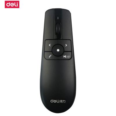 得力deli)激光筆2803空中飛鼠可充電PPT翻頁筆/激光翻頁筆/無線演示器 30米無線遙控 紅光