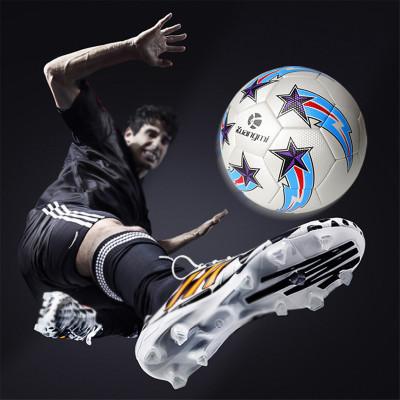 狂迷世界杯足球藍白5號球耐磨高彈性成人青年少年球個性花式訓練專業比賽鍛煉用球