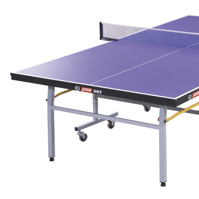 紅雙喜(DHS)乒乓球臺可折疊室內家用有輪子滾輪球桌T2023重量115KG(附網架 兵拍 乒球)