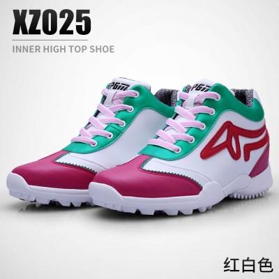 高爾夫球鞋 女士內增高3cm高幫鞋 防水運動鞋子