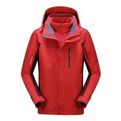 木林森(MULINSEN)冬季新款滑雪服兩件套加厚男士三合一沖鋒衣