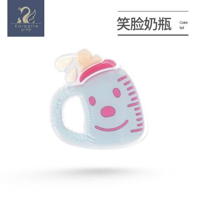 英國karpelle寶寶磨牙棒安撫牙膠玩具嬰兒防吃硅膠咬膠可水煮手抓