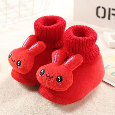 婴儿 鞋0-1岁男女宝宝软底学步鞋秋冬防滑不掉鞋加绒加厚宝宝棉鞋 莎丞