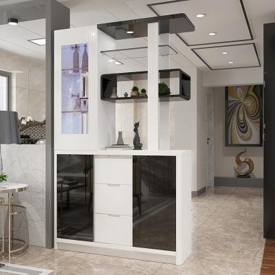 本蘭 現代簡約客廳進門隔斷柜屏風客廳玄關鞋柜酒柜間廳柜雙面餐廳隔斷現代多功能柜