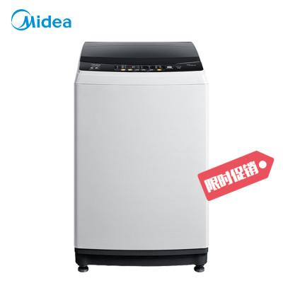 【99新】美的(Midea)MB100V31 10公斤大容量全自動洗脫一體波輪洗衣機 智能自清洗 品質電機 家用智利灰