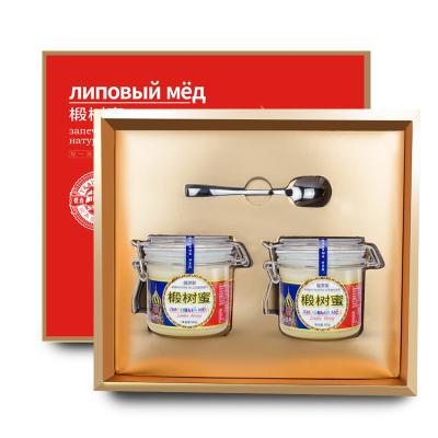 虎标俄罗斯进口椴树蜂蜜500g*2 进口蜜源 锡霍特椴树雪蜜礼盒装