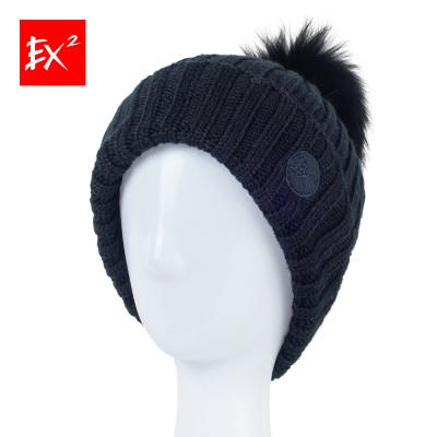 EX2 брэндийн шинэ загвар өвлийн эмэгтэй малгай  өнгө: хар 366111 (58cm)