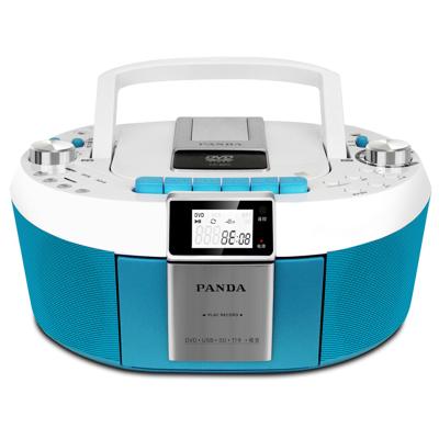 熊猫(PANDA) CD-820 多功能DVD复读机CD胎教转录机磁带播放器收音机英语学习机MP3/视频播放器 蓝