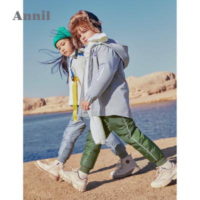 安奈儿童装男童女童羽绒裤加厚保暖新款洋气冬装潮童裤子外穿
