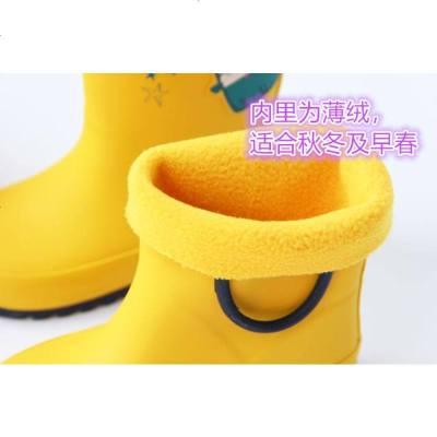 卡通橡胶柔软儿童雨鞋 防滑轻便