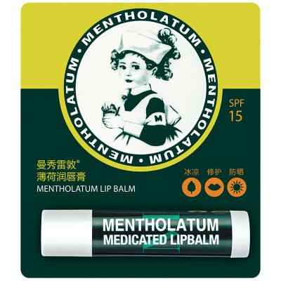 曼秀雷敦(MENTHOLATUM)薄荷潤唇膏3.5g 保濕 潤唇膏
