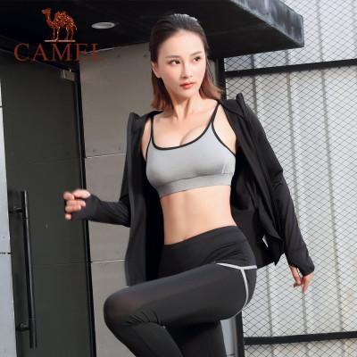 CAMEL駱駝戶外瑜伽服套裝 2019新款上衣外套運動內衣長褲短褲透氣健身服五件套