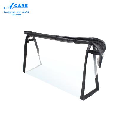 acare阿嚓熱 透明防水化妝包手提便攜pvc大容量洗漱包黑邊款