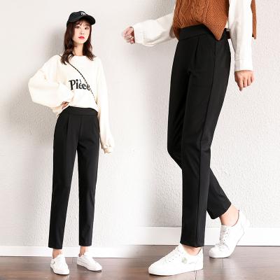 純詩妮休閑褲女2020春秋新款西褲女直筒職業小個子女褲修身小腳褲女