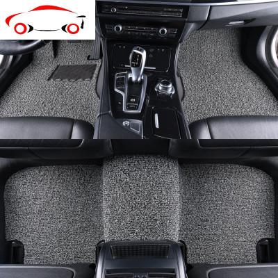 敬平專車專用地毯式汽車腳墊通用防水可裁剪定制無味加厚防滑絲圈腳墊 NG 20MM黑紅色(專車定制)