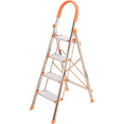 邦禾 家用梯子 鋁合金加厚折疊人字梯 五步梯步步高伸縮工程梯子 T02B五步梯(不銹鋼)