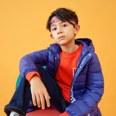 【1件3折价:93】moomoo童装童2019新款轻薄羽绒服字母洋气保暖外套