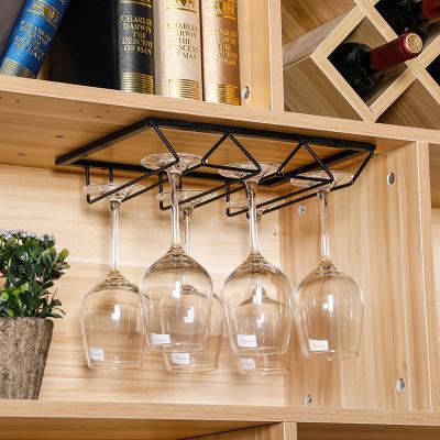 北歐創意葡萄酒杯架家用納麗雅簡約酒柜壁掛式倒掛高腳杯架懸掛紅酒杯架