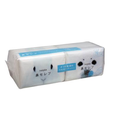 【鼻敏感适用】Nepia妮飘 日本进口 鼻子贵族超柔软湿巾纸 水润柔软敏感适用 16包/盒