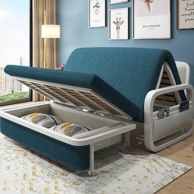 【蘇寧精選】念宜家具 折疊沙發床兩用北歐多功能儲物簡易可拆洗沙發床