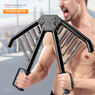 小笹可調節臂力器臂力棒健身器材家用鍛煉手臂身體胸肌運動腹肌訓練器