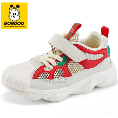 BOBDOG HOUSE巴布豆童鞋夏季鏤空兒童運動鞋女童鞋子男童透氣網面網鞋B9249