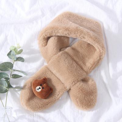 儿童围脖围巾秋冬季男女小童宝宝幼儿毛绒 播塞BSDGEAR小孩保暖脖套