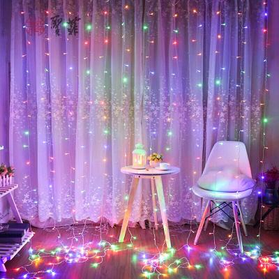 家裝好貨【點擊下方led星星燈彩燈閃燈串燈少女心房間臥室宿舍布置窗簾瀑布裝飾掛燈放心購601210