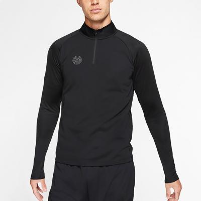國際米蘭足球俱樂部官方男子運動長袖T恤速干衣跑步休閑健身訓練上衣