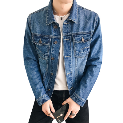 李维犀牛LEEVIRHINO2019冬季新款男士牛仔服男修身柔软舒适牛仔衣男时尚潮流男士休闲牛仔上衣外套男-PG