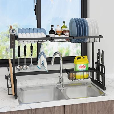 四季沐歌(MICOE)廚房置物架不銹鋼水槽置物架碗碟架刀架瀝水架家用廚房收納架碗筷水槽架