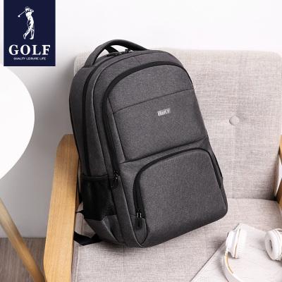 高爾夫(GOLF)雙肩包男商務多功能USB充電接口15.6英寸背包時尚電腦包大容量初高中學生書包出差包旅行包2020新品