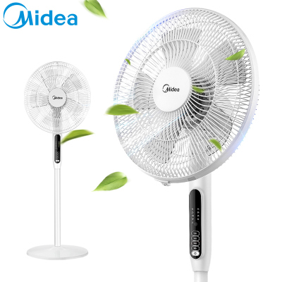 美的(Midea) 电风扇 SAC35BR 3档风速 5片风叶 7小时定时 俯仰可调节 落地扇