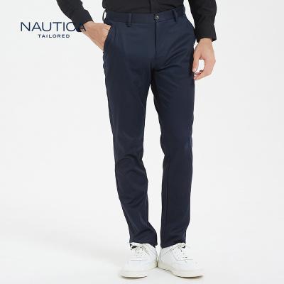 【5折價:219】諾帝卡/NAUTICA TAILORED西褲男士新品商務西裝直筒長褲
