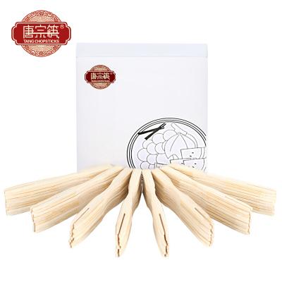 唐宗筷 200支装水果叉 蛋糕甜品叉 点心叉 竹制水果签加厚型卫生竹叉 C6679