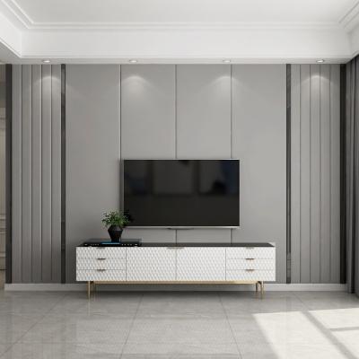 影視背景墻硬包現代閃電客簡約輕奢鑲嵌客廳沙發臥室床頭電視純色軟包 做鑲嵌硬包