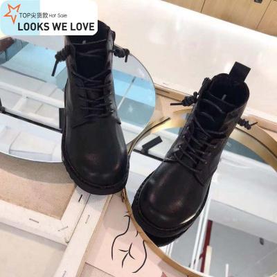 儿童马丁靴2019冬季韩国童鞋女童真皮加绒短靴男童二棉洋气皮鞋  七色王国