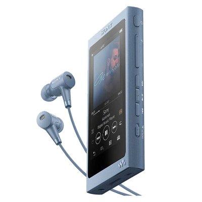索尼(SONY)NW-A45HN無損MP3音樂播放器(含耳機)高解析度Walkman 月光藍 A45升級版新品內置16G
