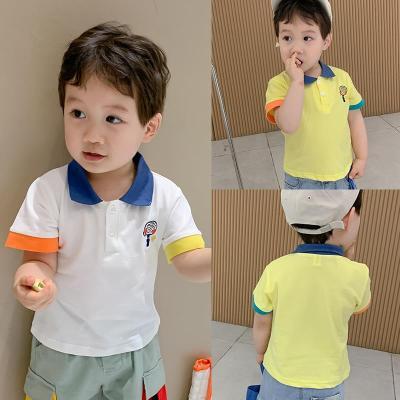 男童短袖T恤2020新款夏兒童上衣T童裝韓版棉夏裝寶寶洋氣polo衫莎丞(SHACHEN)