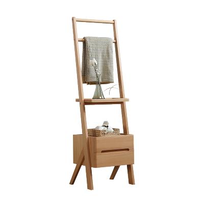 沃购北欧纯实木高柜日式木质简约现代柜多层原木置物架原创客厅家具斗柜