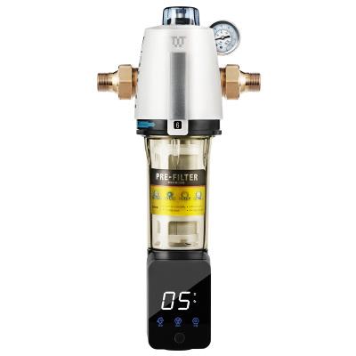 特潔恩(tjn)前置過濾器家用反沖洗凈水器全屋自來水過濾器DF65智能全自動 5-8噸大流量 雙濾網凈水反沖洗
